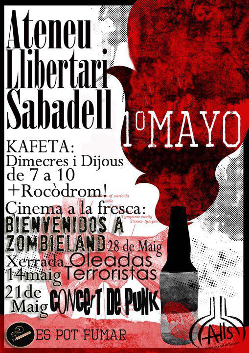 Activitats aquest maig a l'Ateneu Llibertari de Sabadell