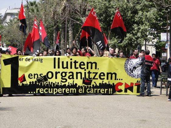 Actes del Primer de Maig a Barcelona de la CNT de Catalunya i Balears