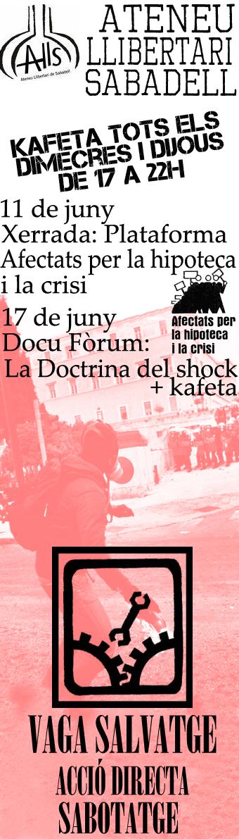 Activitats a l'Ateneu Llibertari de Sabadell