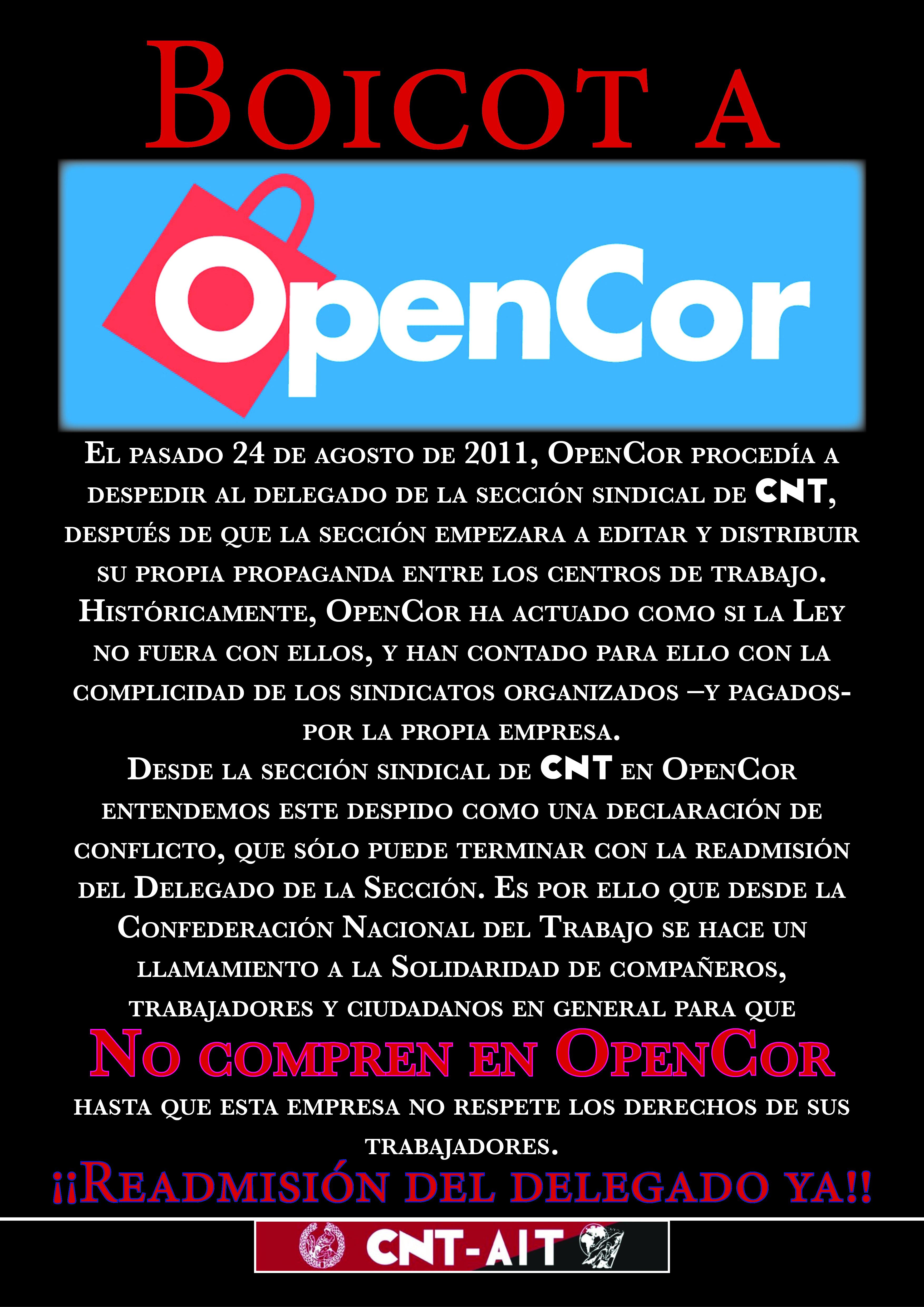 Boicot a Opencor