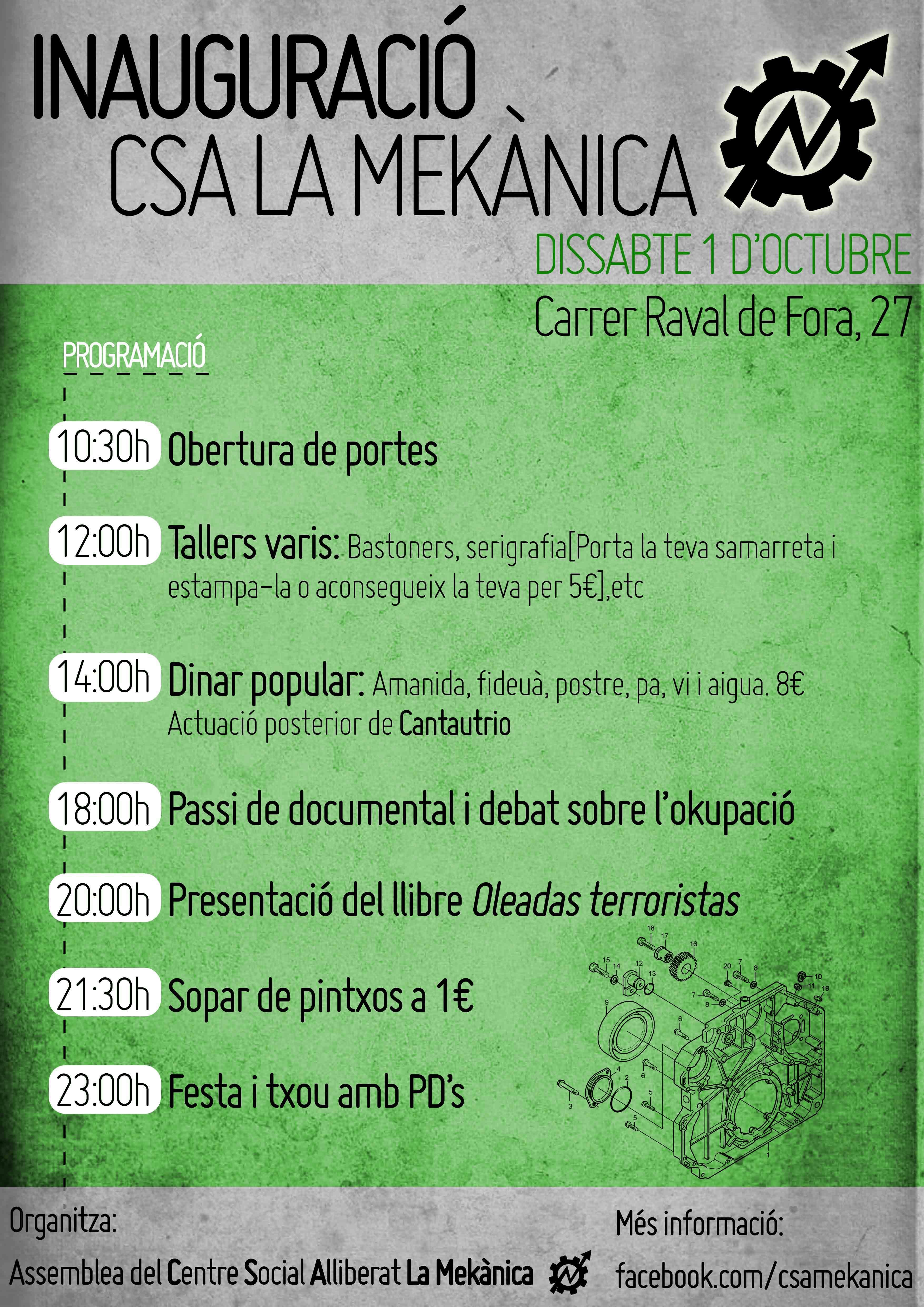 Inauguració del CSA La Mekànica de Sabadell
