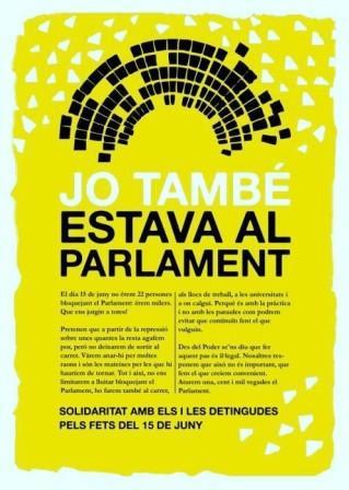 Jo també estava al Parlament… i ho tornaria a fer!