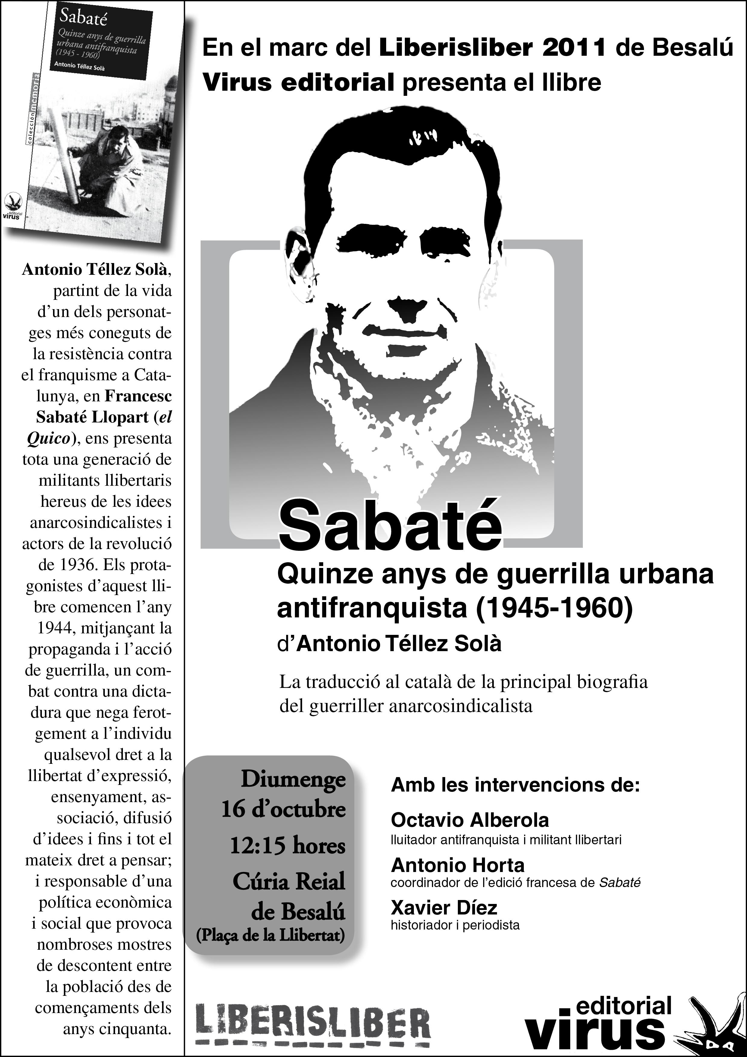 Llibre sobre Quico Sabaté en català. Presentació a Besalú