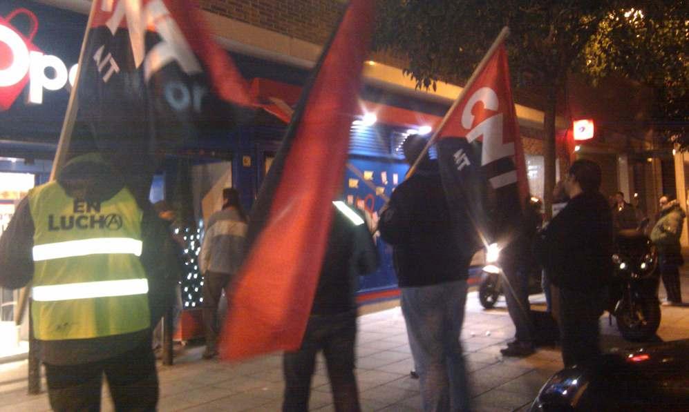 Concentración en solidaridad con el conflicto con Opencor (Madrid)