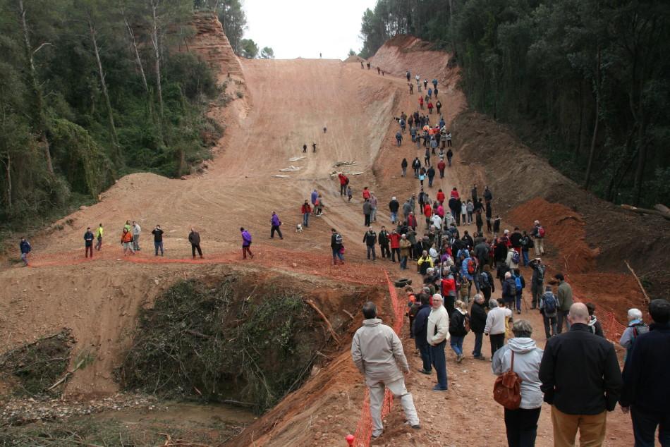 Èxit d'assistència a la caminada del passat diumenge per les obres del Gasoducte