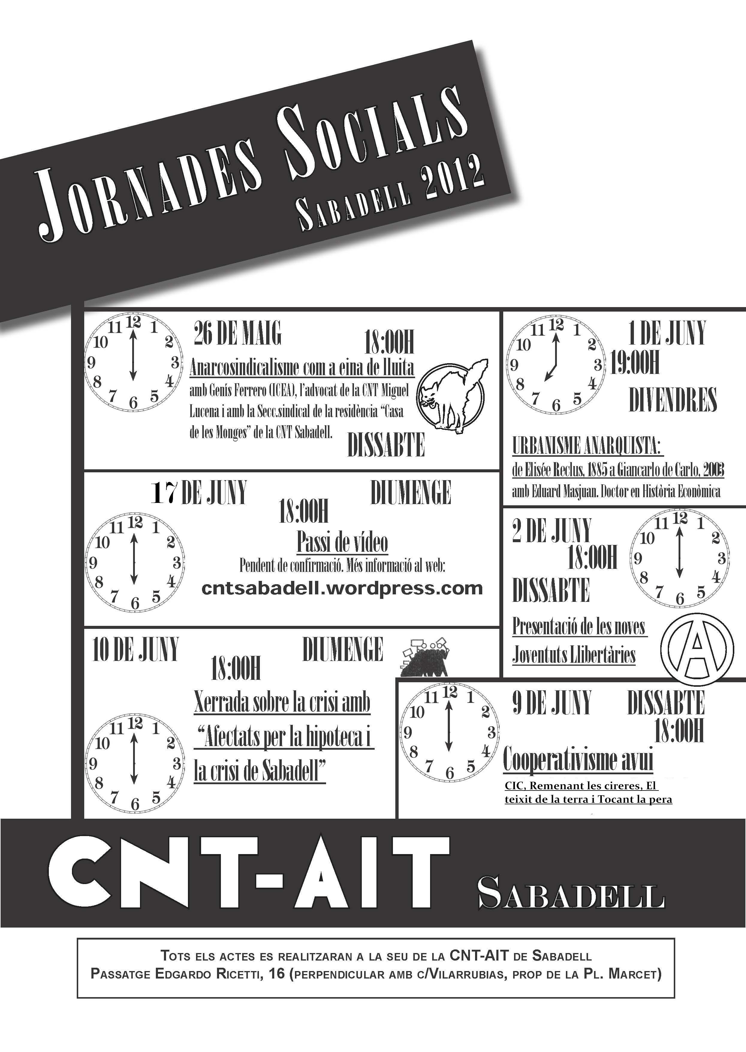 [CNT Sabadell] Jornades socials 2012
