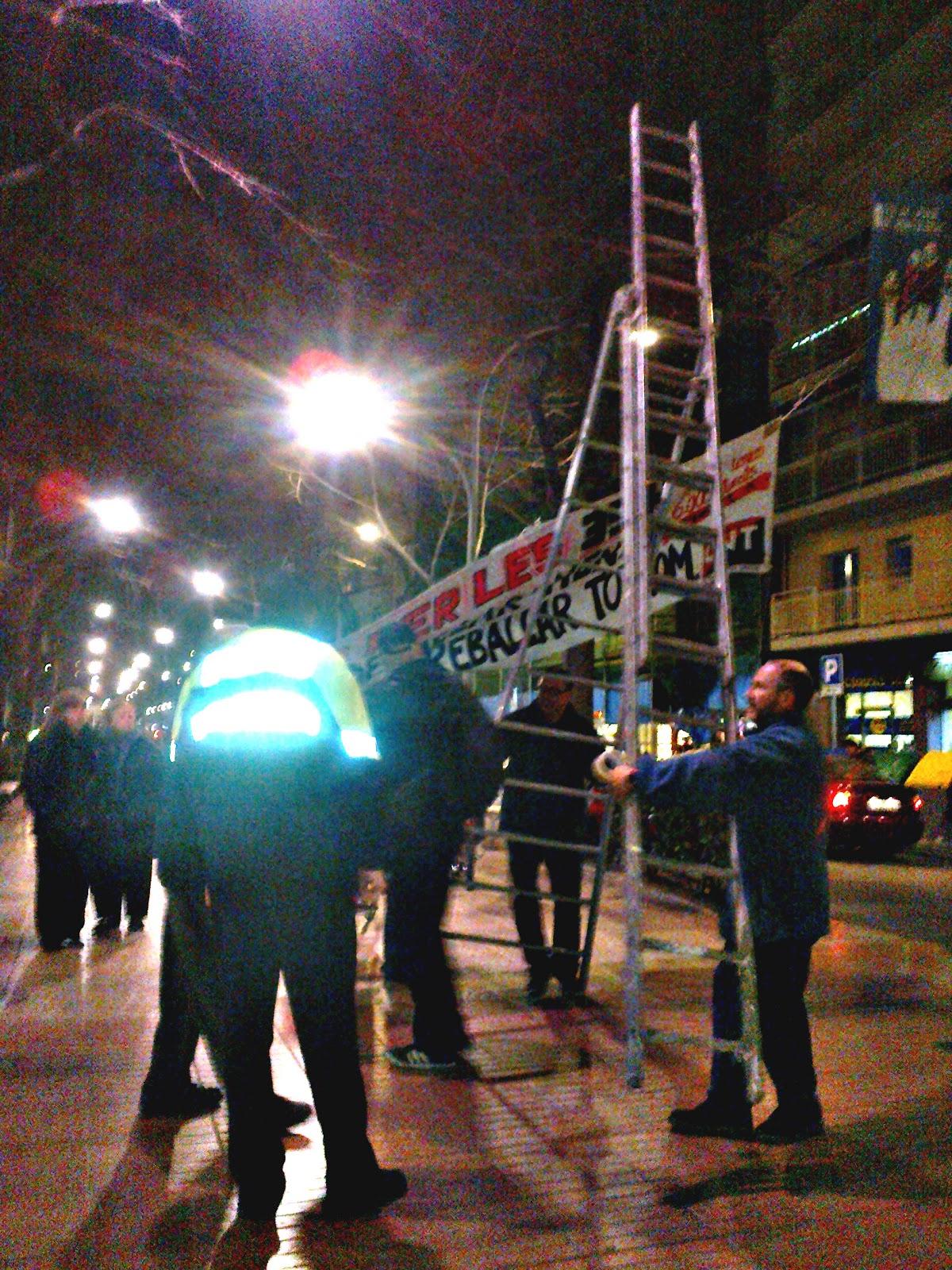 L'ajuntament del Prat (ICV) decideix restringir a la CNT el dret a penjar pancartes
