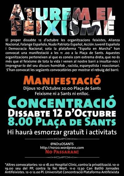 12 d'octubre: Res a celebrar! Feixisme mai més!
