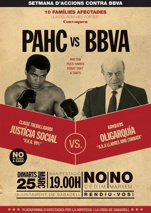[25 de març] Manifestació PAHC VS BBVA
