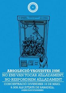 Absolució imputats Vaga 29M del 2012: Concentració divendres 16M a les 9:30h als jutjats de Sabadell