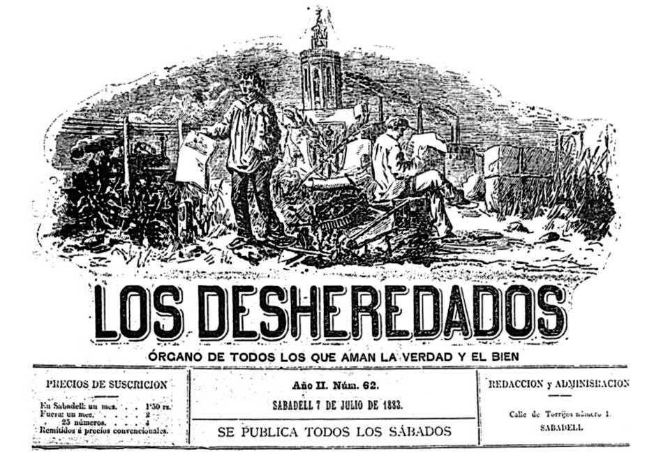 """Nou número del periòdic """"Les Desheretades"""". Portaveu de la CNT Sabadell"""