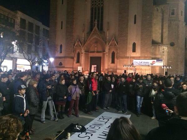Crònica concentració dissabte per la llibertat dels presxs anarquistes [Sabadell]