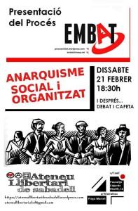 Presentació del Procés Embat: 21 de febrer a les 18:30 a l'Ateneu Llibertari de Sabadell