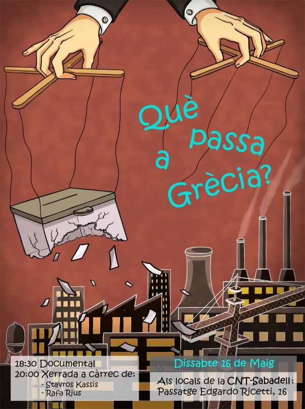 """Jornada """"Què passa a Grècia?"""" (ds. 16/05/2015)"""