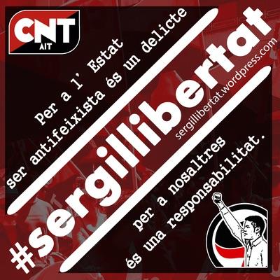 Volem a en Sergi en llibertat i sense càrrecs!!!