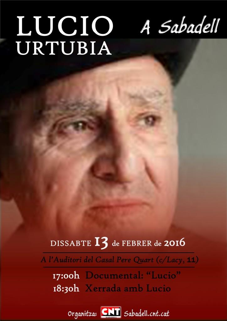 [13 de Febrer] Lucio Urtubia a Sabadell