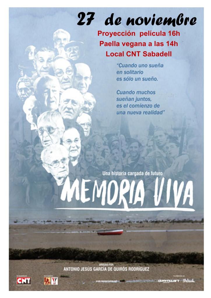 Proyección del documental Memoria Viva.