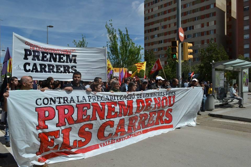 Crònica i fotos del Primer de Maig a Sabadell